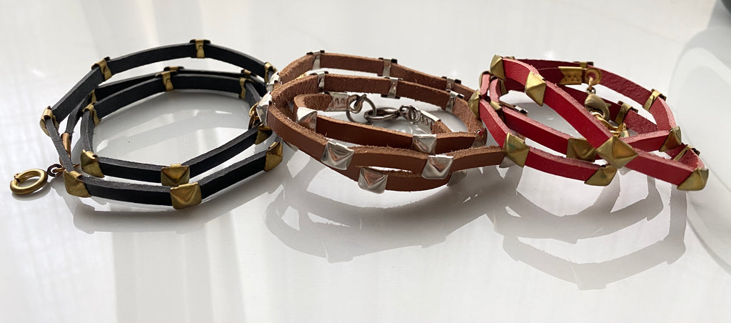Leather wrap Bracelets (SAMPLE SALE)