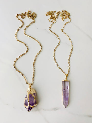 *Limited* Amethyst Necklaces