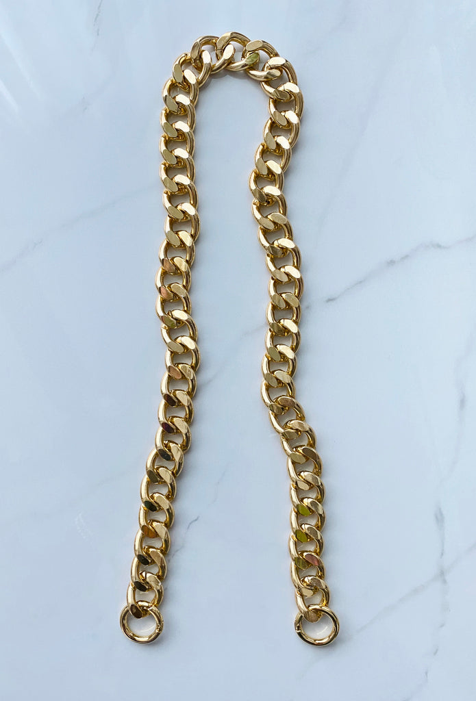 Cuban Link Purse Chain *Oval Link* (Crossbody Length)