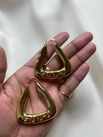 """GOLD"" Hoop Earrings"