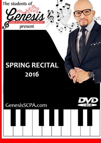 PREORDER - GENESIS SCPA SPRING RECITAL DVD (Download)