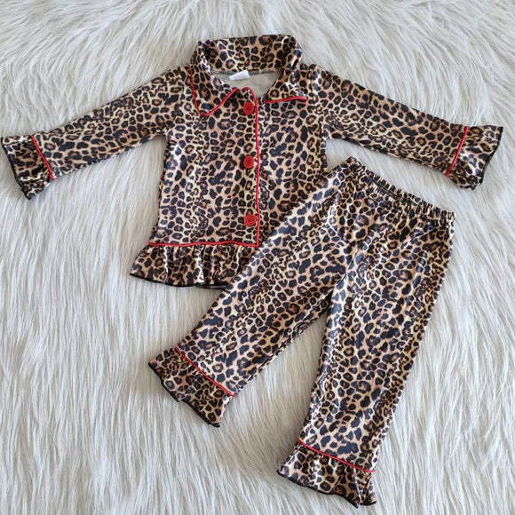 Leopard button up jammies