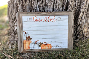 I'm Thankful for... dry erase board