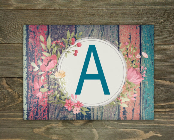 Colorful distressed Initial Cutting Board
