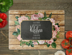 Floral Chalkboard Cutting Board