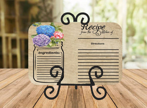 Flower Recipe Cutting Board