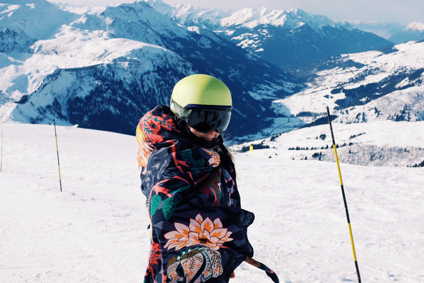 Skiing in the Alps and you can wrap yourself in the scarf