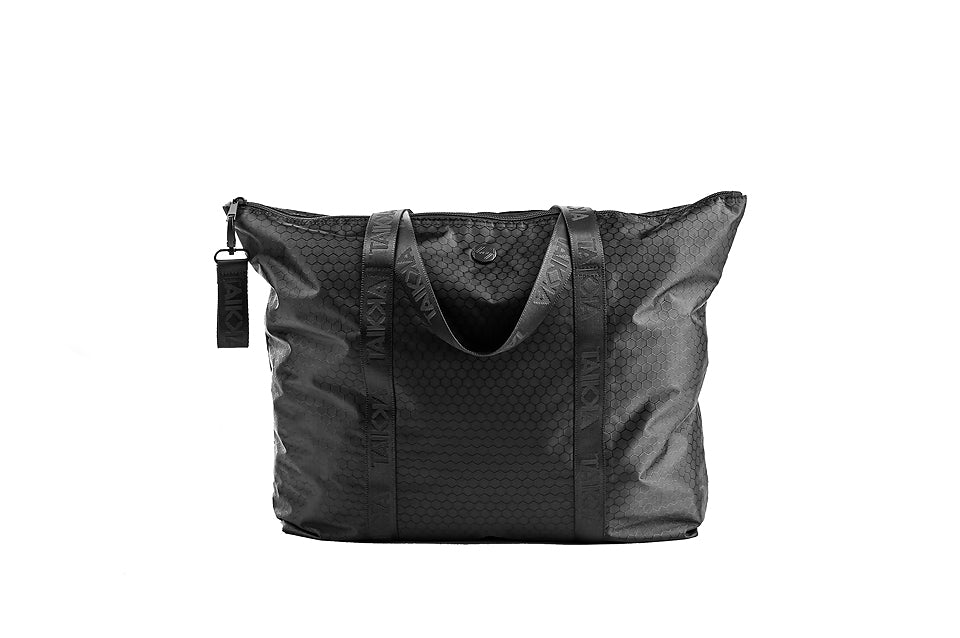 All Black Zip Travel Bag