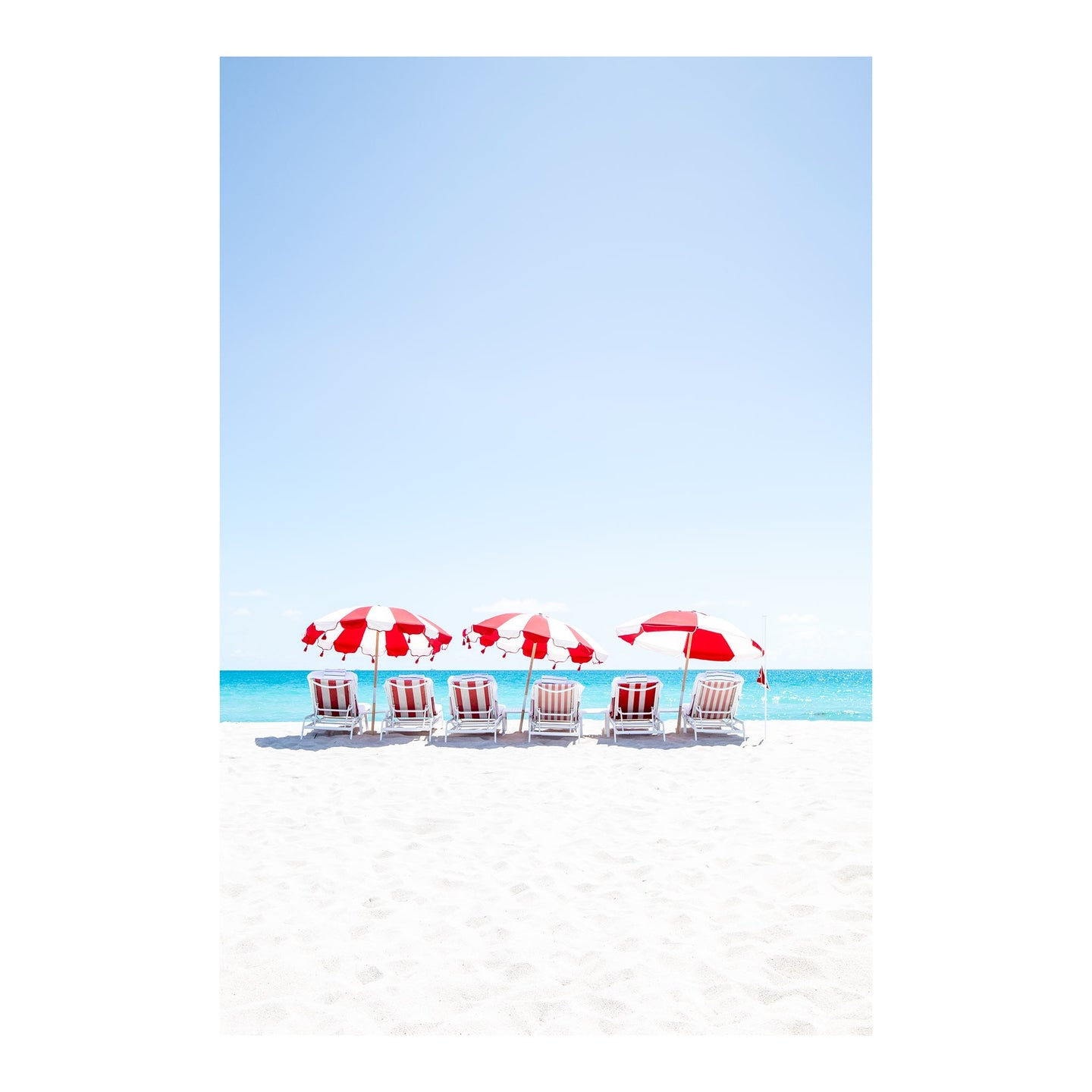 Red and White Umbrellas, Miami