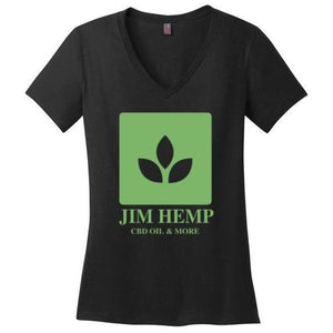 Jim Hemp Original District Made Ladies Perfect Weight V-Neck T-Shirt - Jim Hemp Inc