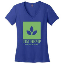 Load image into Gallery viewer, Jim Hemp Original District Made Ladies Perfect Weight V-Neck T-Shirt - Jim Hemp Inc