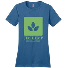 Load image into Gallery viewer, Jim Hemp Original District Made Ladies Perfect Weight Tee T-Shirt - Jim Hemp Inc