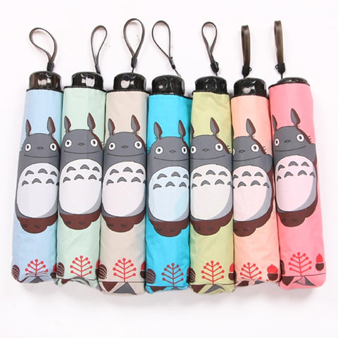 6 Color Totoro Daily Folding Umbrella Cosplay Collection - GhibliFan Shop