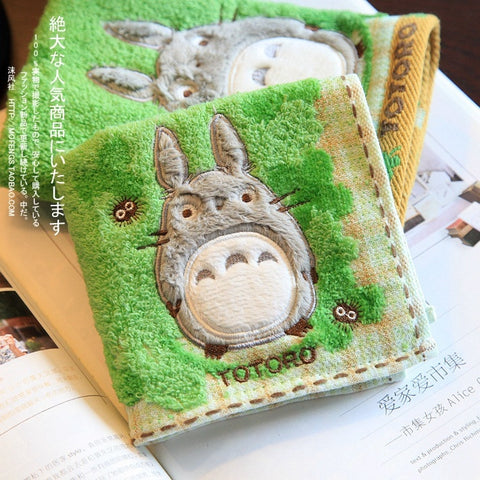 100% Cotton Totoro  Face Hand Towel Sheet - GhibliFan Shop