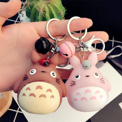Keychains Cute Kawaii Anime Totoro 4 Color - GhibliFan Shop