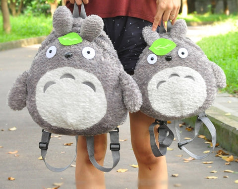 2Sizes TOTORO  Plush Backpack 33 39Cm - GhibliFan Shop
