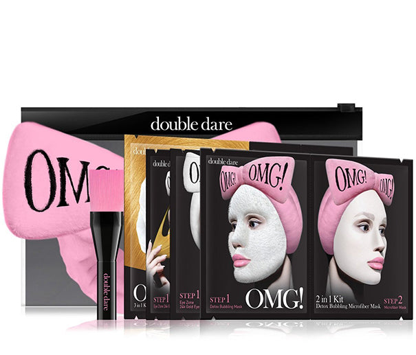 OMG! Premium Package Set (4 Masks With Pink Hair Band & a Brush)