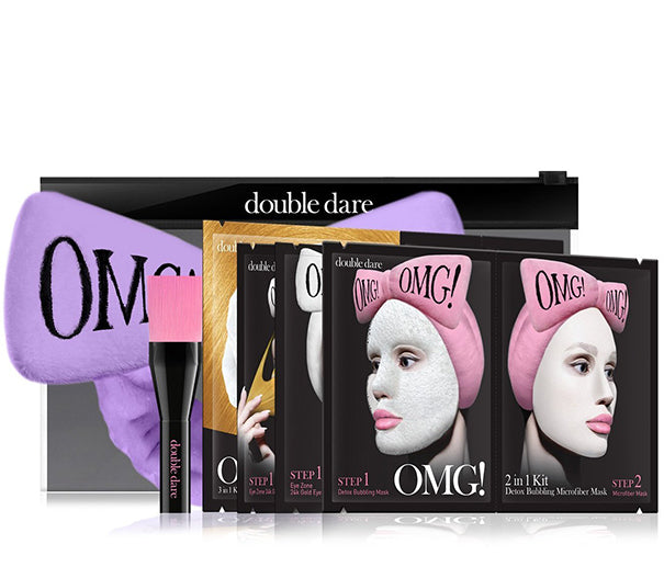 OMG! Premium Package Set (4 Masks With Purple Hair Band & a Brush)