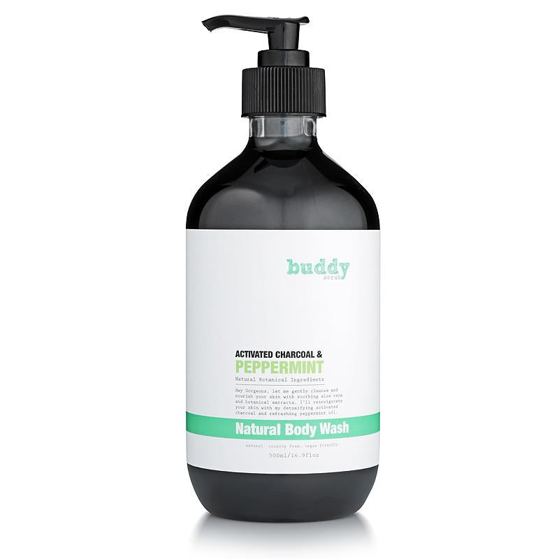 Buddy Activated Charcoal & Peppermint Body Wash بادي سكراب: غسول الجسم بالفحم والنعناع
