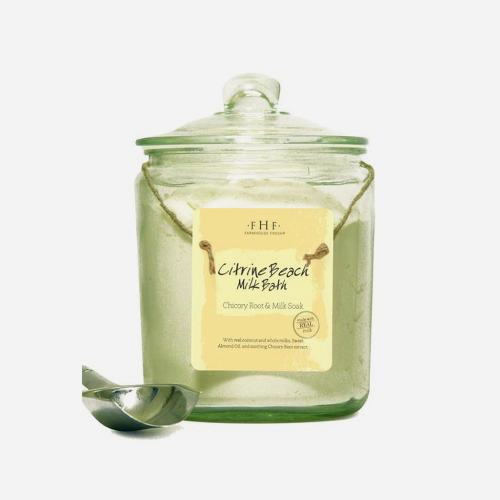 FHF Citrine Beach Bath Milk (Glass Jar)