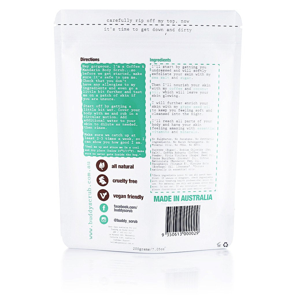 Buddy Coffee Body Scrub