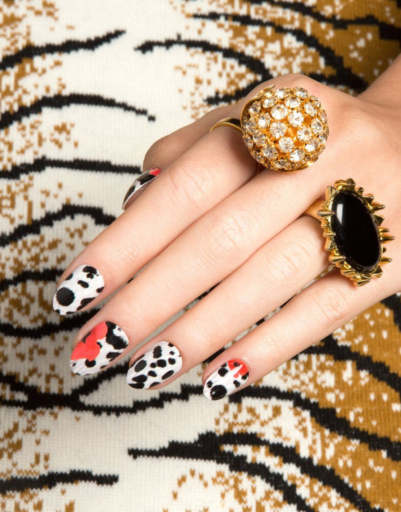 NCLA Nail Wraps (Poppy En Dot)