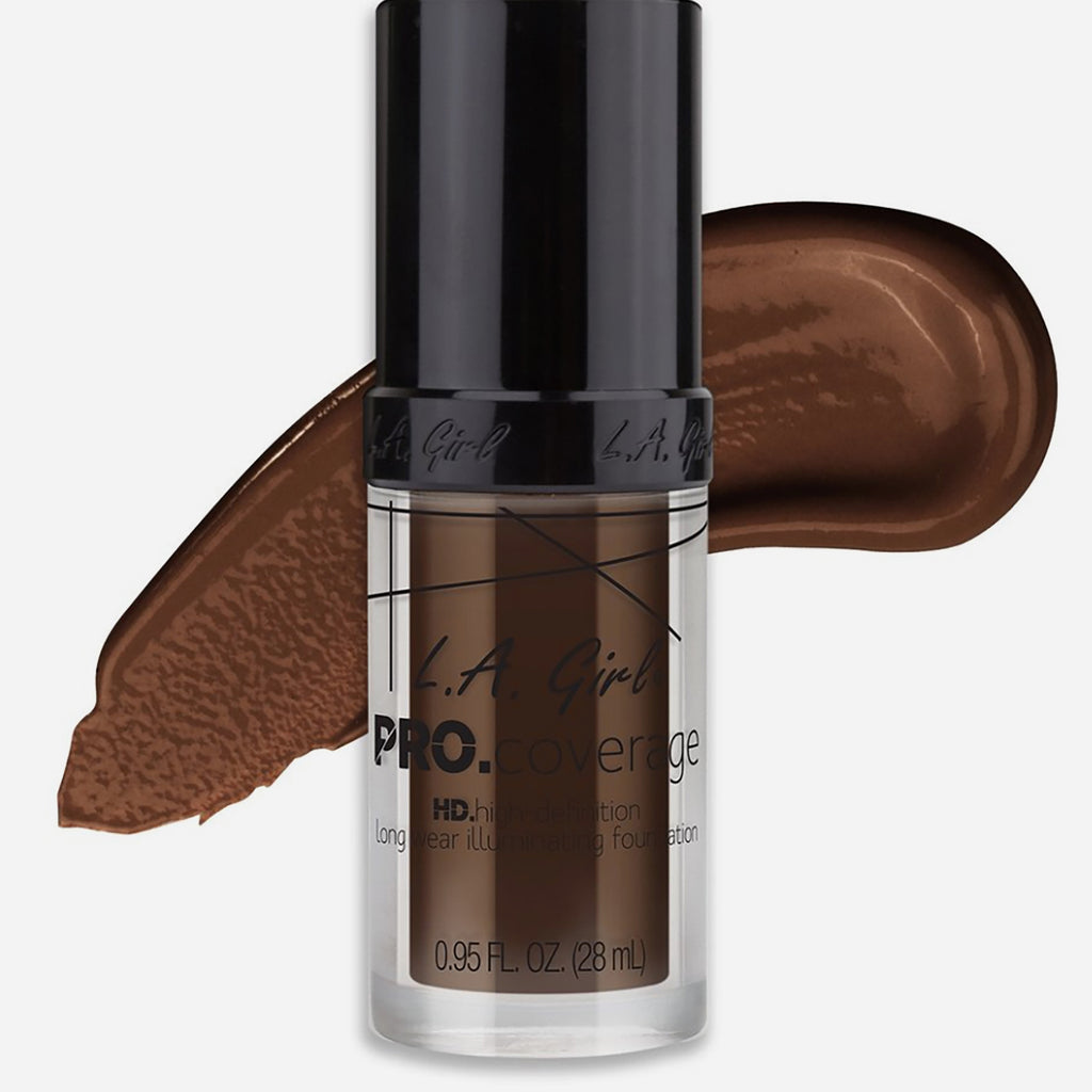 L.A. Girl Pro Coverage Illuminating Foundation (Dark Chocolate)