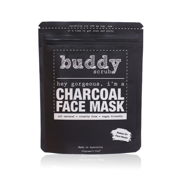Buddy Activated Charcoal Face Mask بادي سكراب: قناع طين للوجه بالفحم