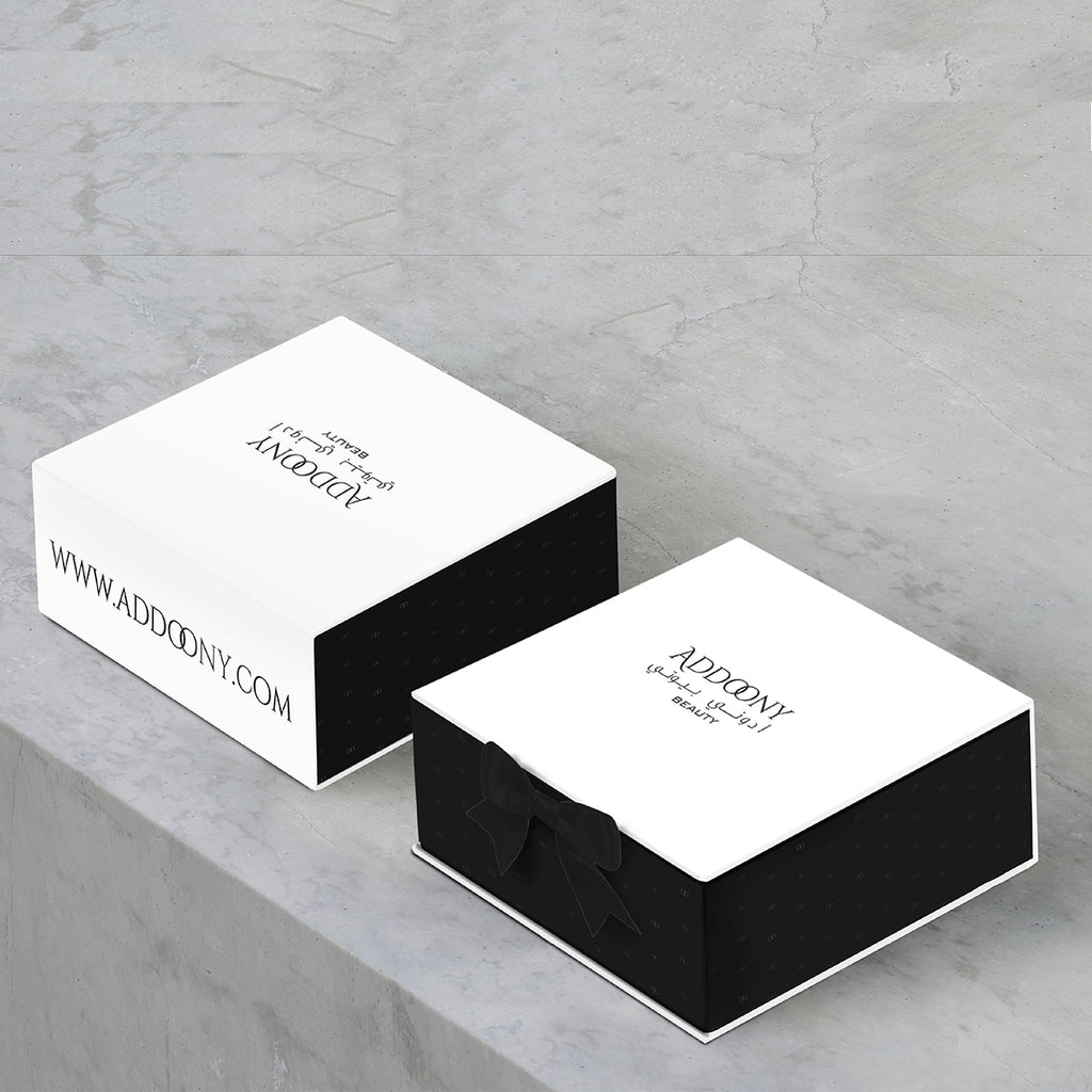 Addoony Gift Box White & Black (EMPTY)