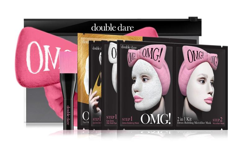 OMG! Premium Package Set (4 Masks With Hot Pink Hair Band & a Brush)