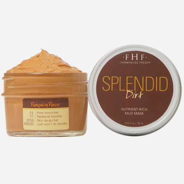 FHF Tightening & Radiance Boosting Face Mask (Splendid Dirt: Mud Pumpkin Puree)  فارم هاوس فريش: قناع القرع لشد الوجه
