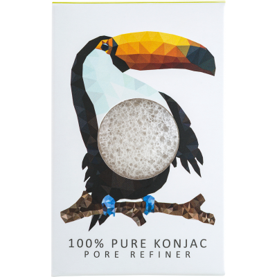 Konjac Mini Pore Refiner Rainforest Toucan Sponge