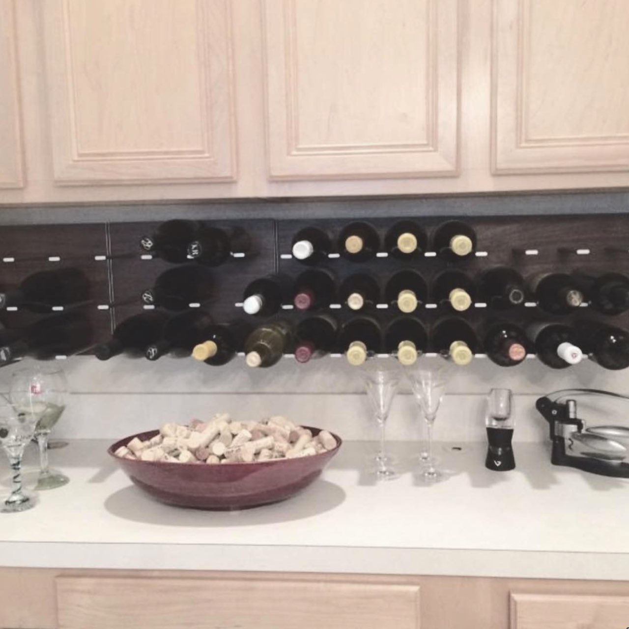DIY home wine tasting bar