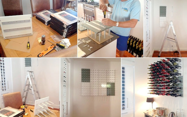 wine cellar wall racking installation
