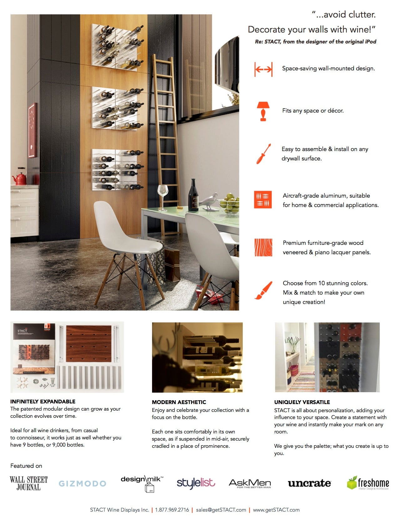 STACT wine racks - brochure