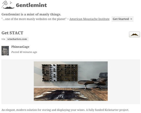 gentlemint STACT wine wall