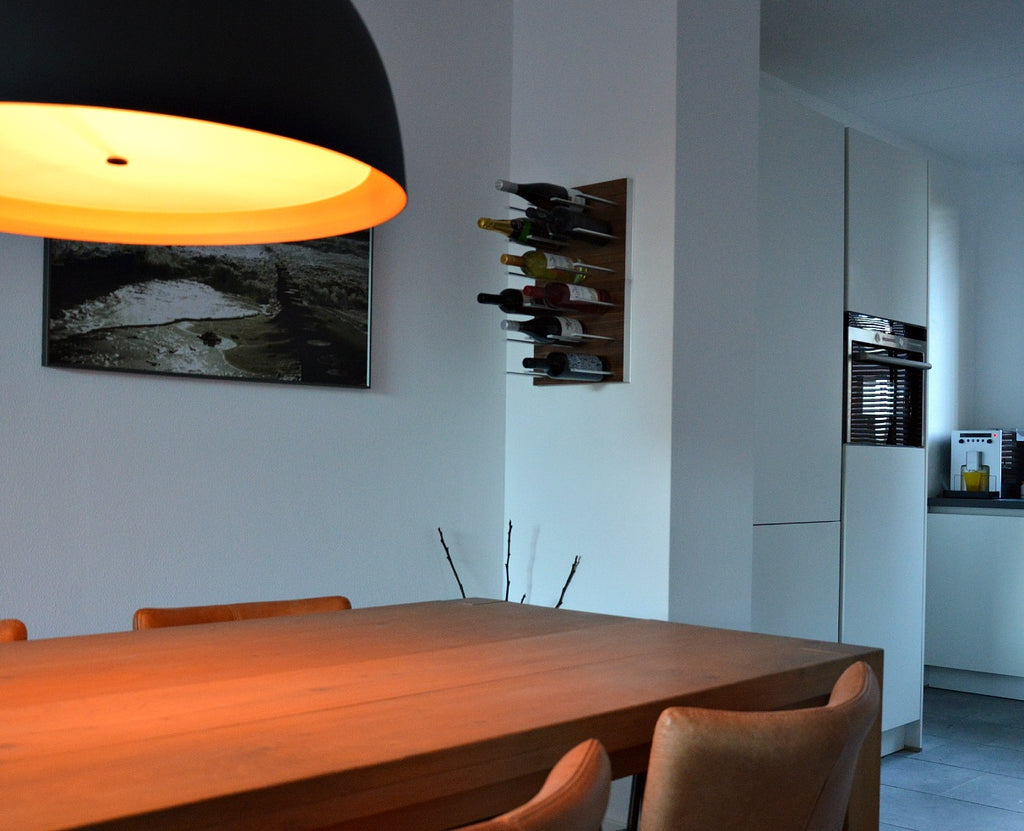 contemporary modern dining room wine storage
