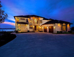 lakefront mansion