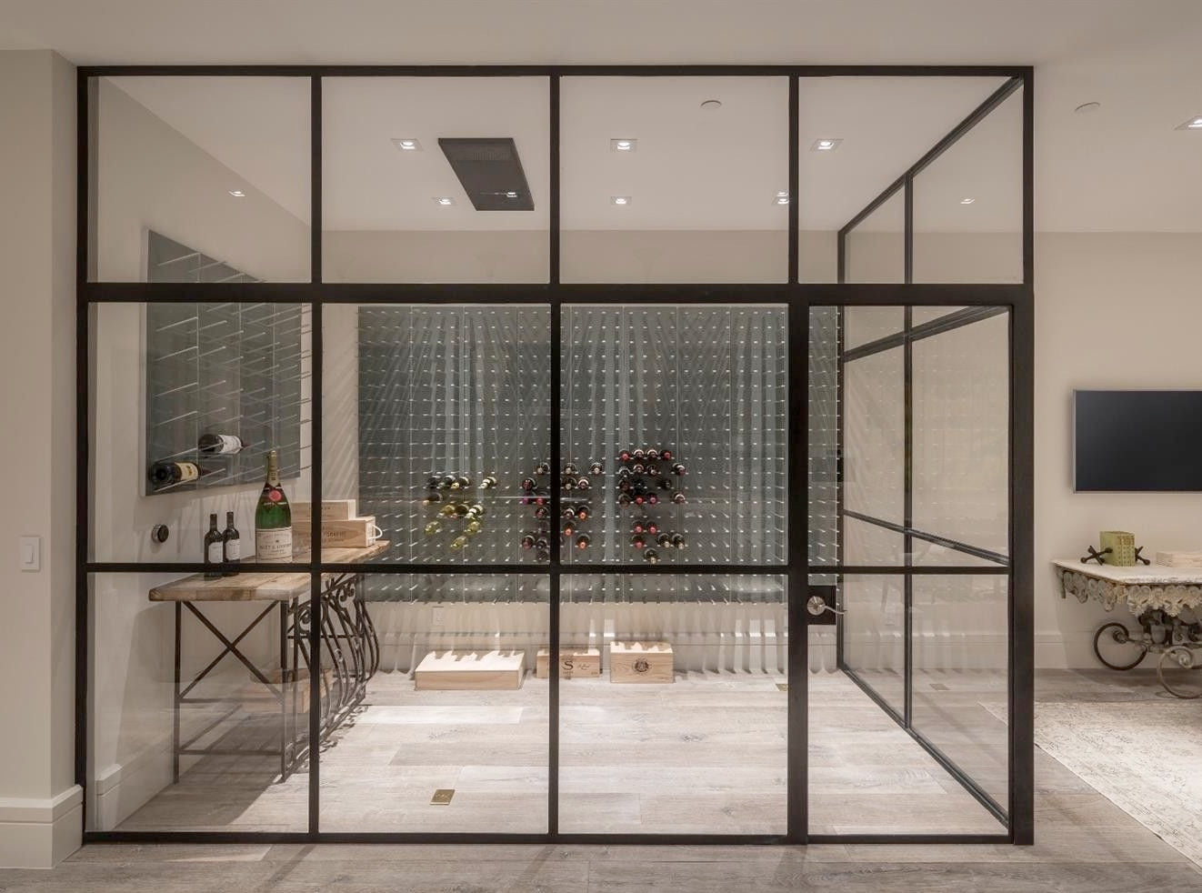 sealed air tight glass wine room