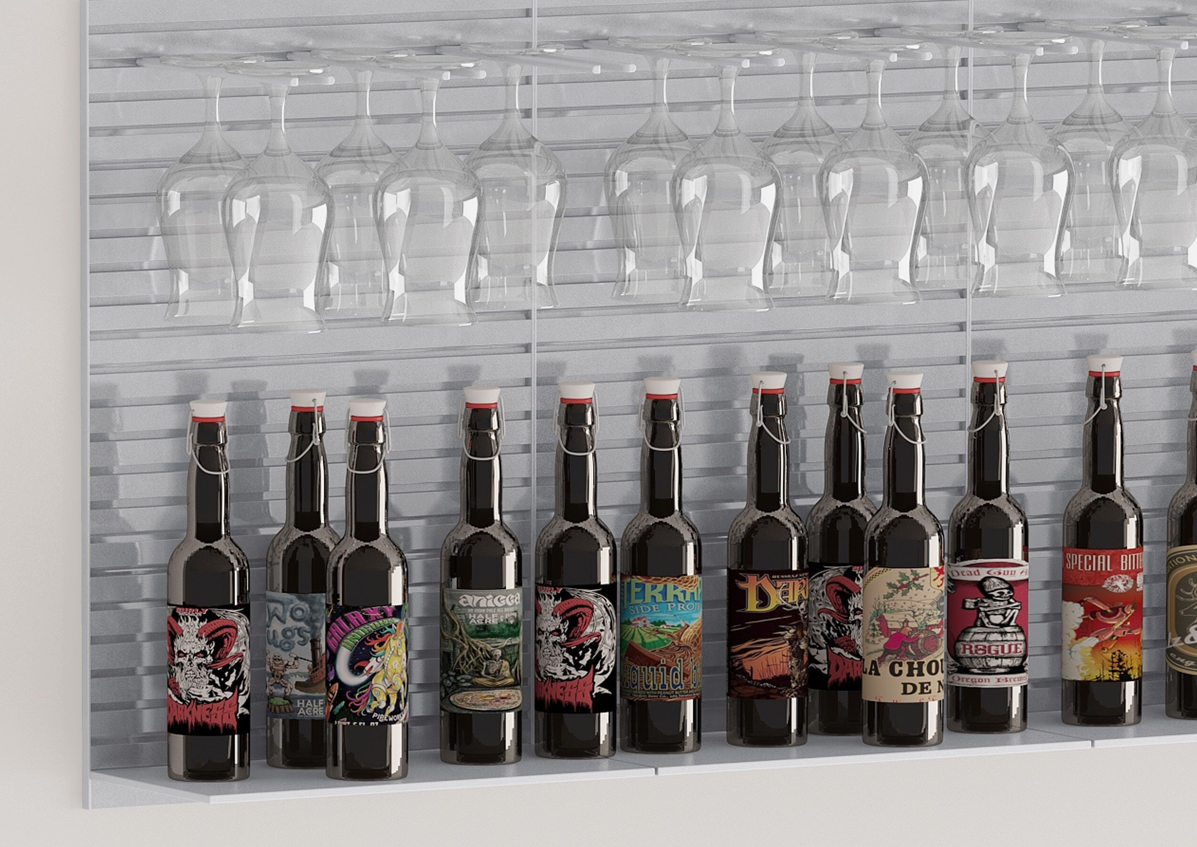 beer display shelf rack