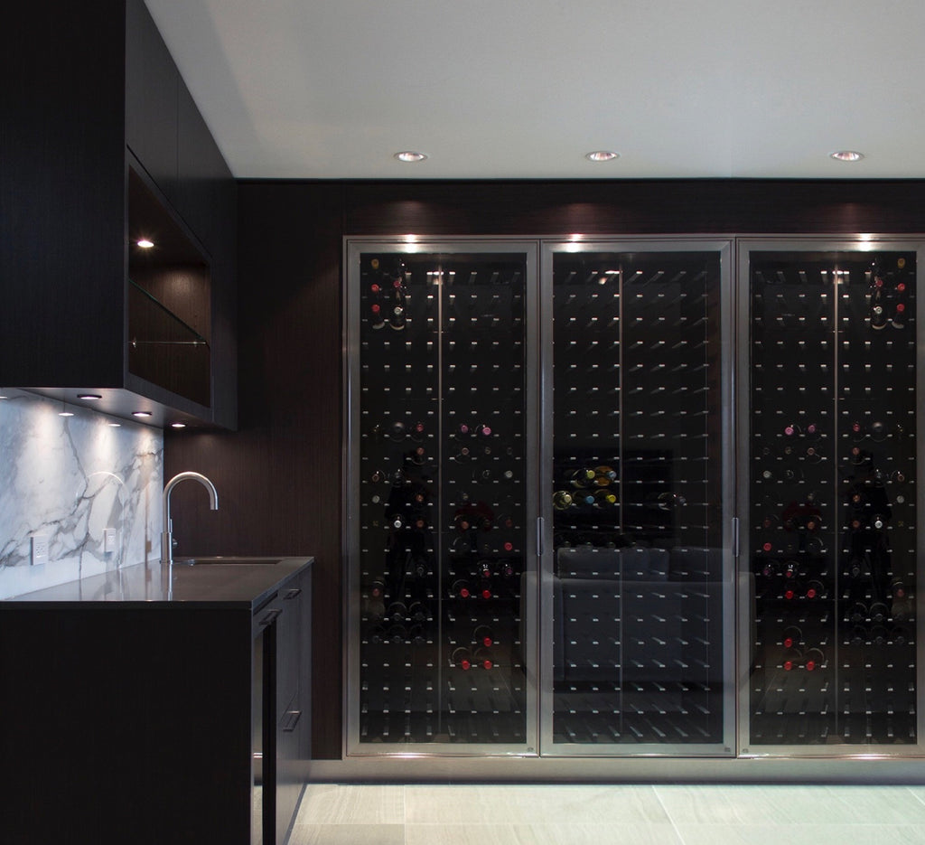 glass wine cabinet design