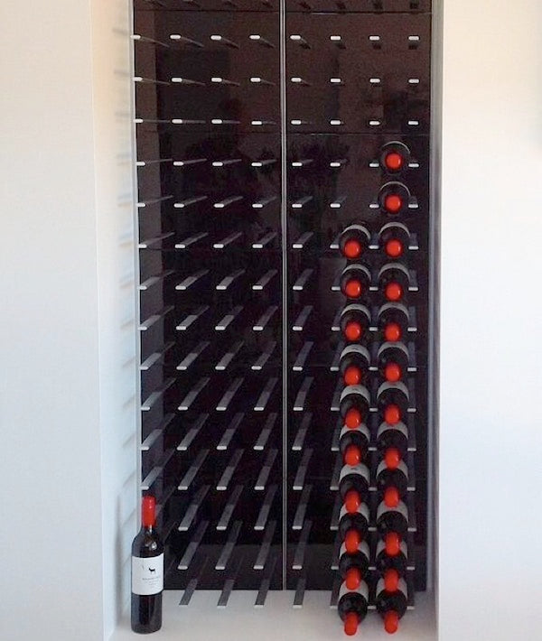 built-in wine storage display for kitchen