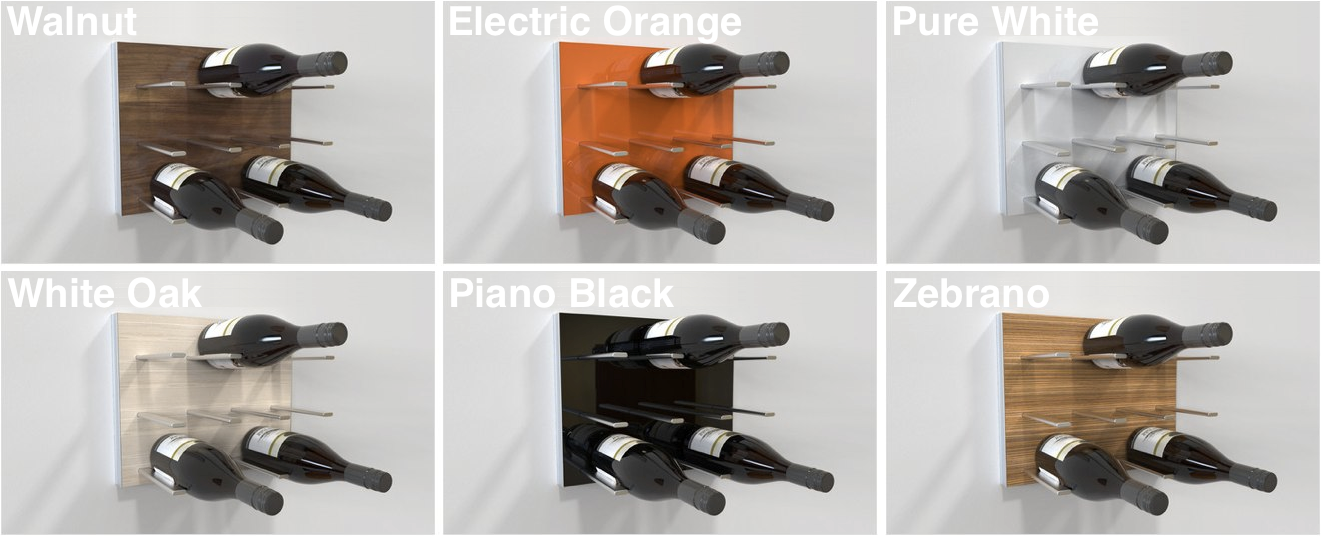 STACT wine racks come in a range of colours