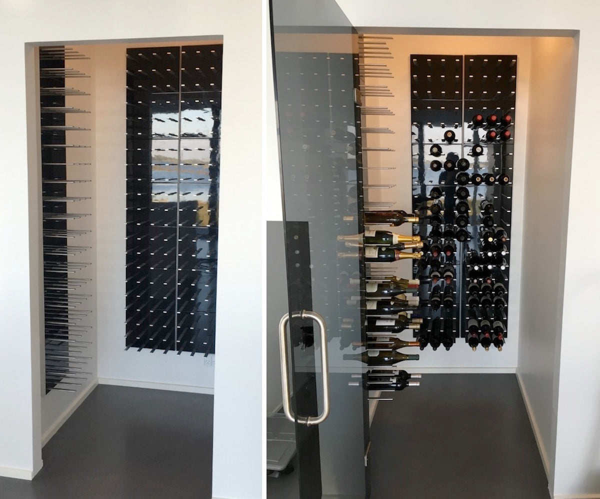 closet wine cellar conversion
