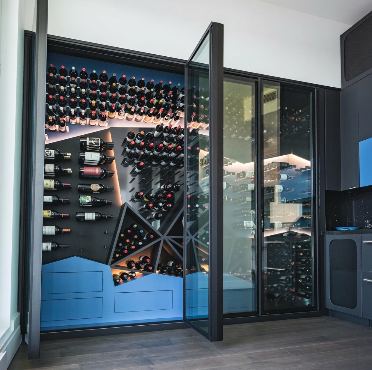 contemporary glass wine wine cellars