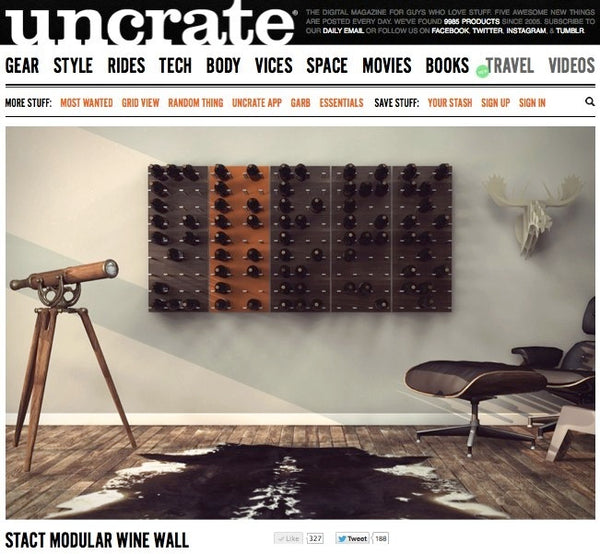 cool wine gear on uncrate - wine rack for guys - STACT