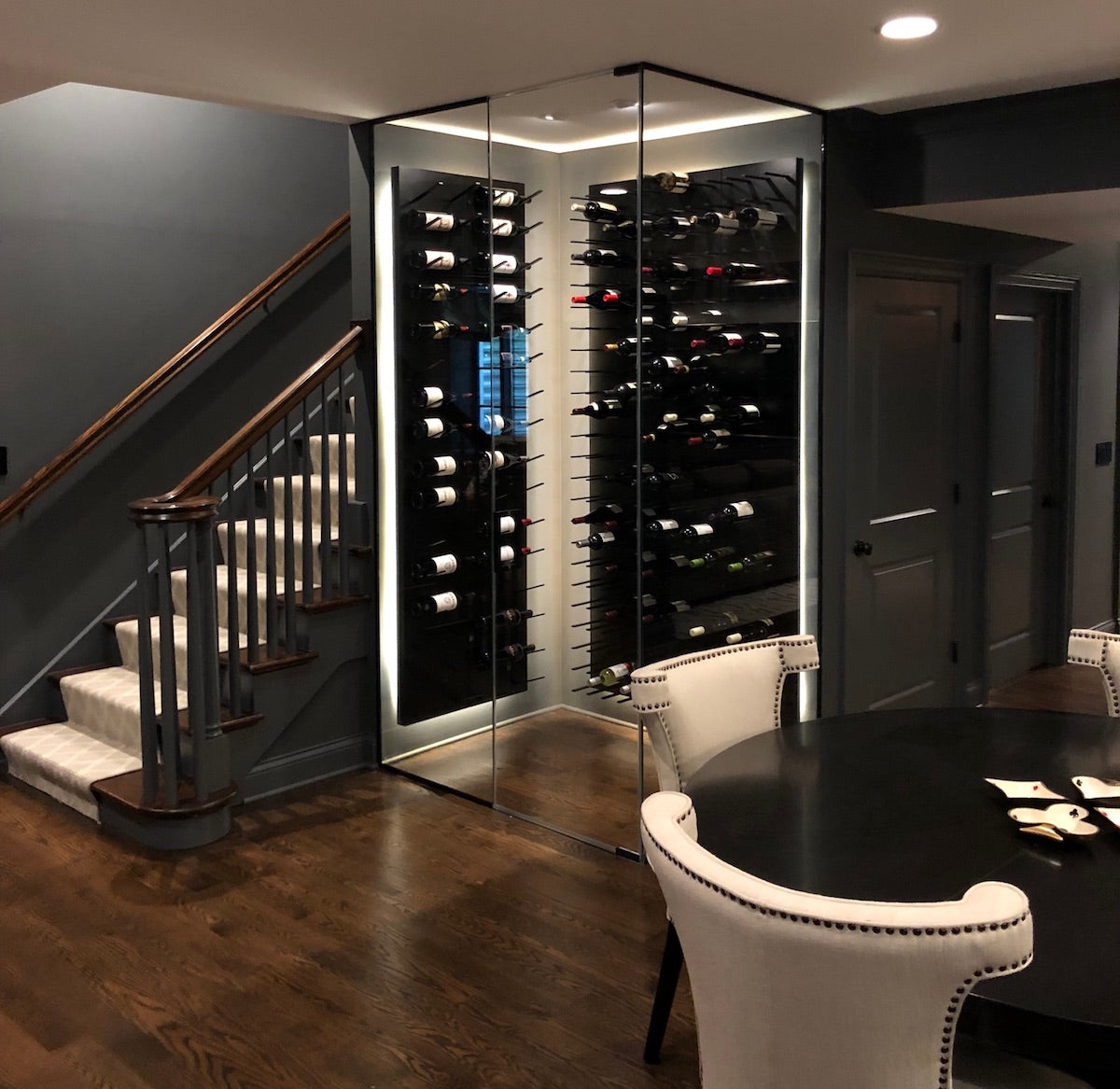 compact glass wine cellar - chicago