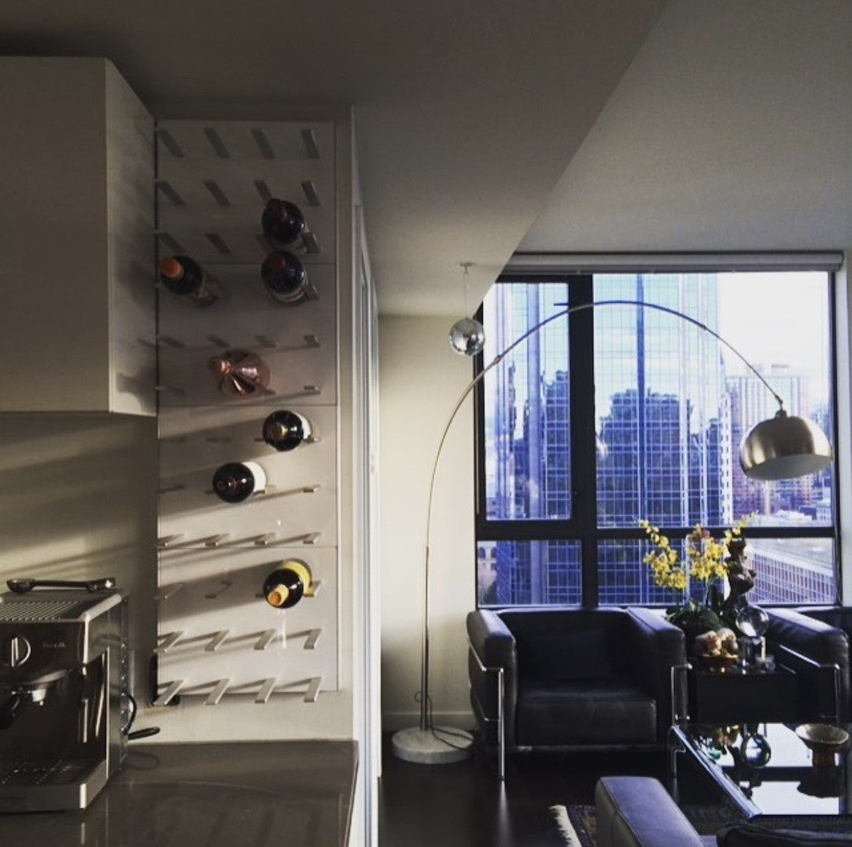 custom kitchen wine racking