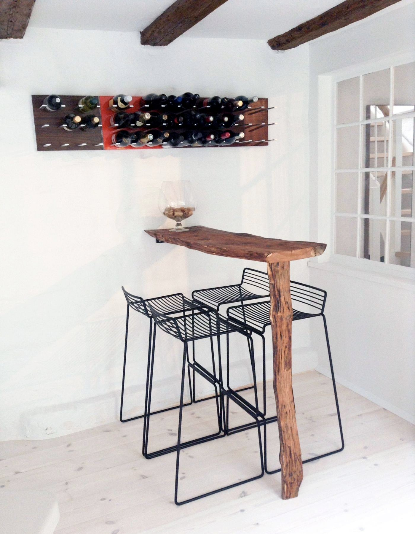 rustic modern wine display rack