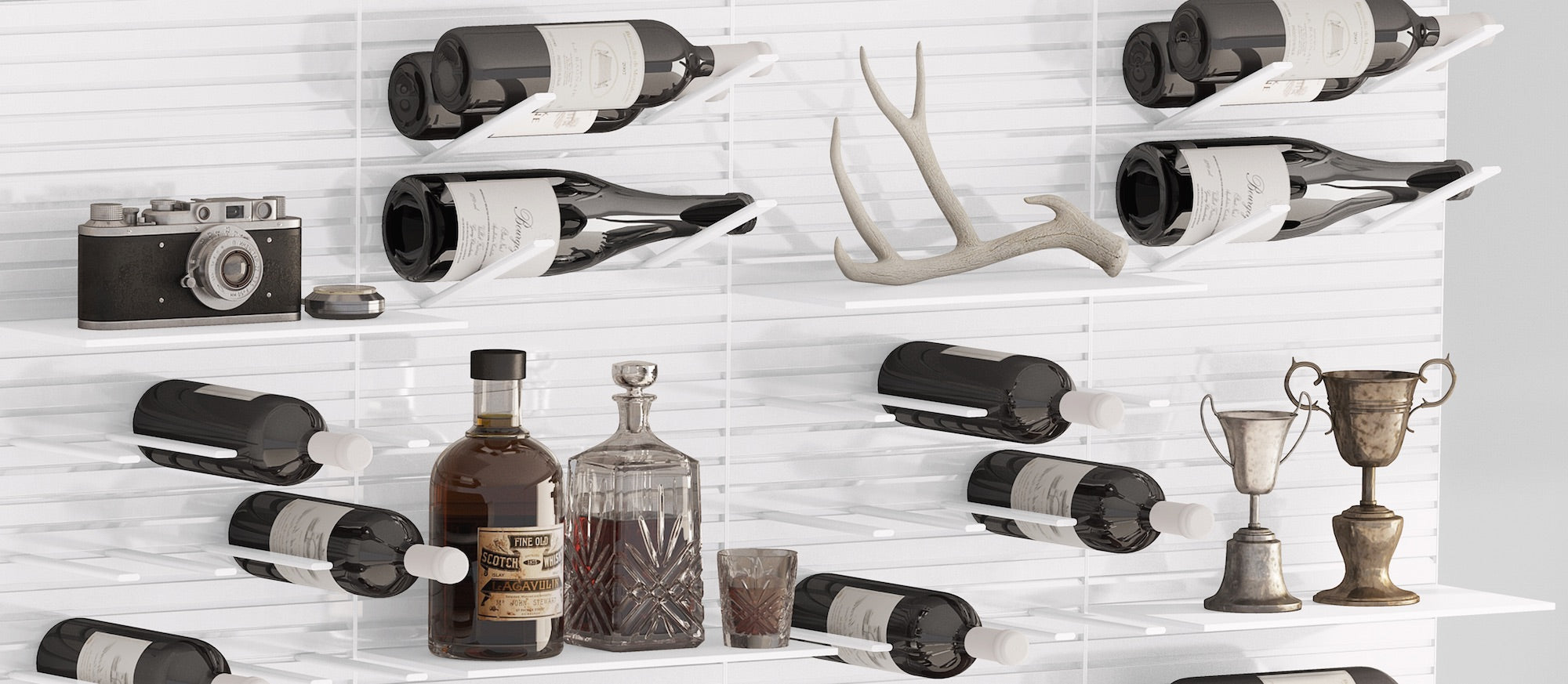 designer wine storage display system